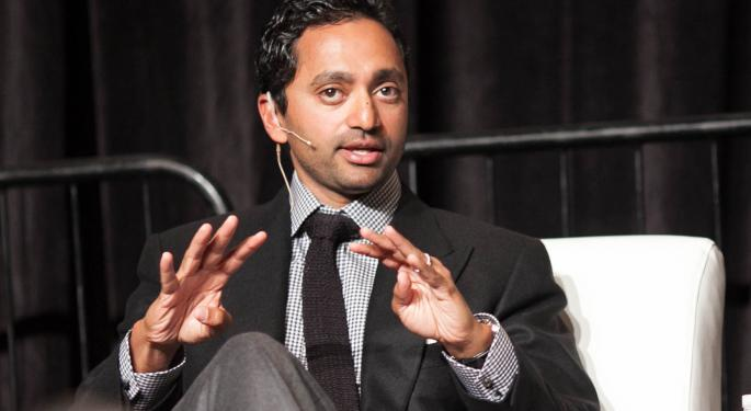 Palihapitiya's Next Three SPACs Raise $2.1B In IPOs
