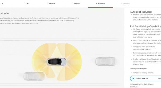 Tesla Raises Full Self-Driving Software Price To $8K As Features Mount