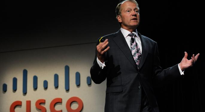 Cisco Systems' John Chambers Discusses Adjustments, Beats And Cuts CSCO