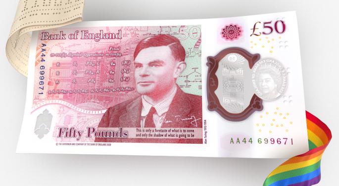 New English £50 Note Celebrates LGBTQ Computer Scientist Alan Turing
