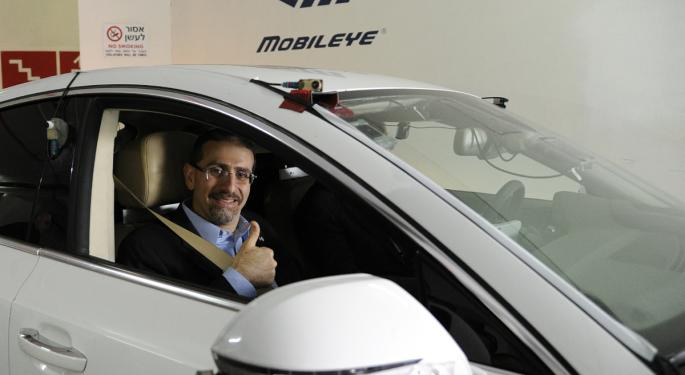 Mobileye Hits Highest Level In A Month