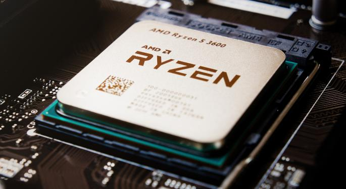Why AMD's Stock Is Trading Higher Today