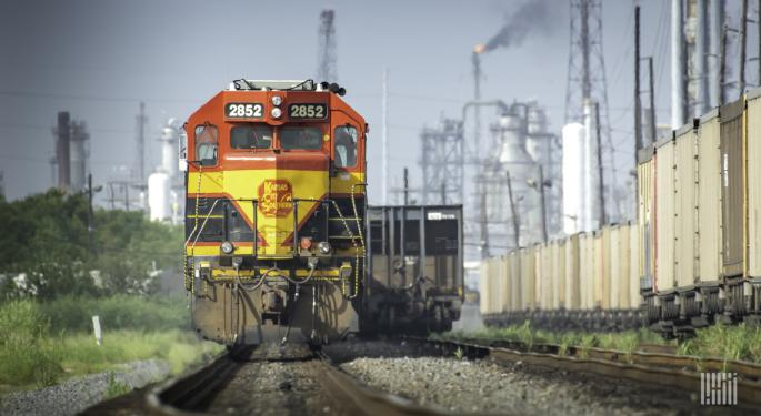 US Weekly Rail Traffic Almost At Last Year's Levels