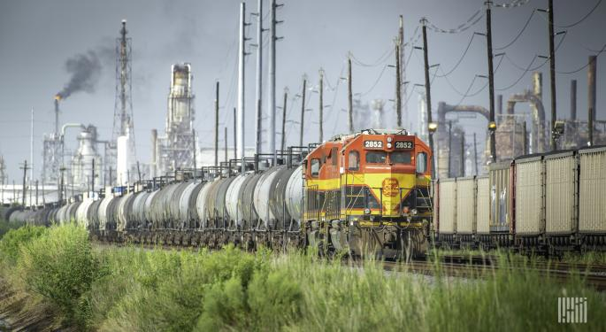 Weekly US Rail Traffic Falls On Holiday Comps
