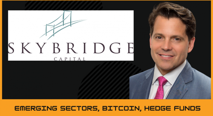 SkyBridge's Anthony Scaramucci Talks Up New Bitcoin Fund, Crypto's 'Exponential Liftoff'