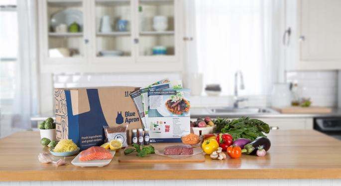 Analyst Comes Out Bullish On Blue Apron, Says Competition Concerns Already Priced In