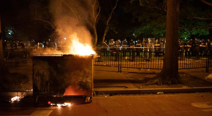 Gun, Security Stocks Trade Higher After Weekend Protests Turn Violent And Destructive