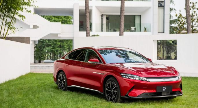 Las ventas de coches de BYD se disparan un 21,5% en agosto