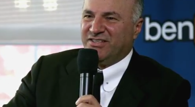 Kevin O'Leary Taunts His Kids With Gold Bricks