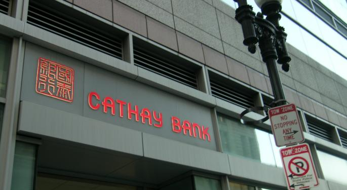 With Little Remaining Upside Seen For Cathay General Bancorp, BMO Downgrades