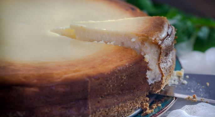 Why Cheesecake Factory's Stock Is Trading Higher Today