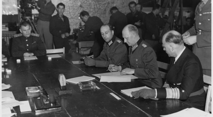 This Day In Market History: Germany Unconditionally Surrenders