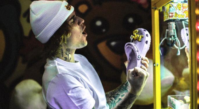Did Justin Bieber Help Crocs Shares Double?