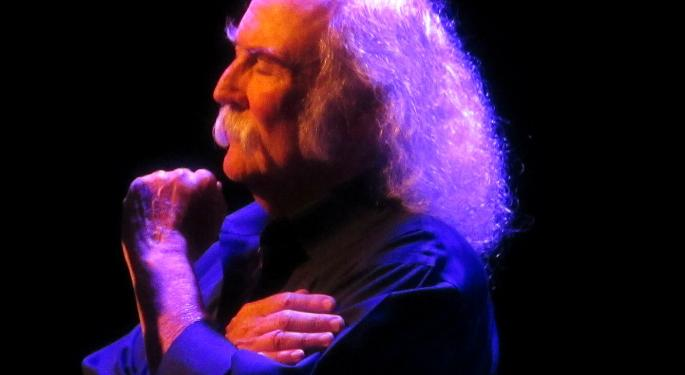 David Crosby Launches Exploratory Weed Brand, Predicts CBD Will Become 'A Hugely Successful Painkiller'