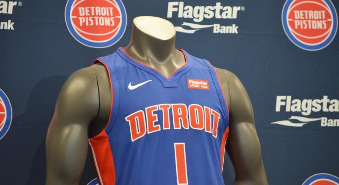 Detroit Pistons, Flagstar Bank Sign Jersey Sponsorship Deal