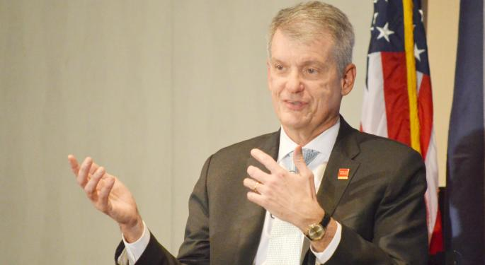 Wells Fargo CEO Tim Sloan Discusses Raise, Auto Sanctions, Dodd-Frank Rollback And Cryptocurrency In Detroit Visit