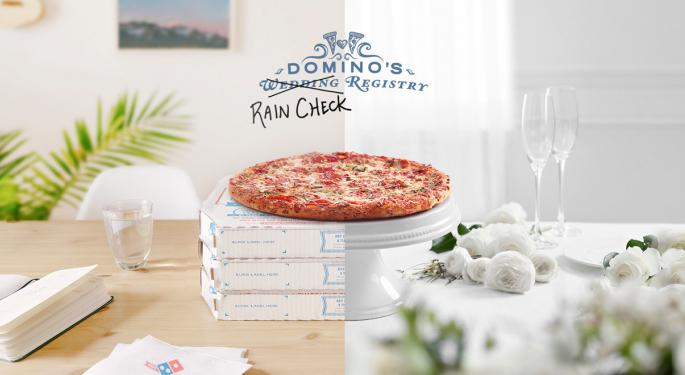 Domino's Pizza Wants To Help With Your Postponed Wedding