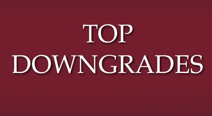 Benzinga's Top Downgrades