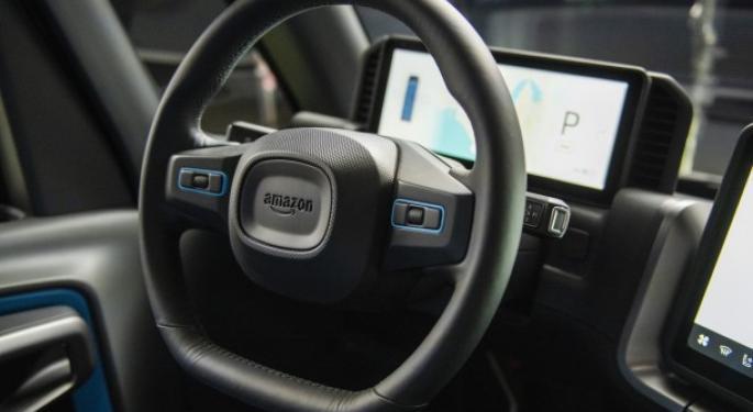 Amazon's Rivian-Built All-Electric Delivery Van Seen In The Wild