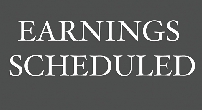 Earnings Scheduled For August 20, 2015