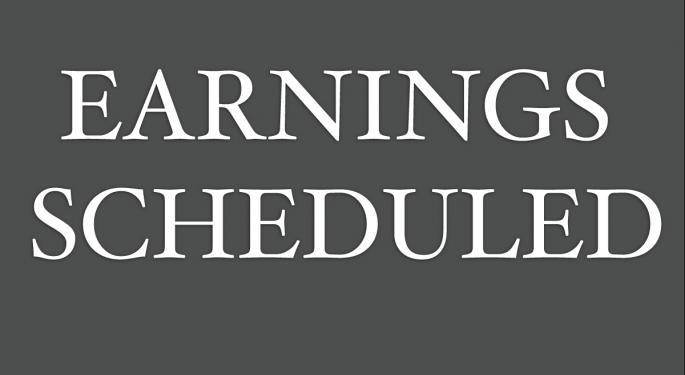 Earnings Scheduled For November 20, 2015