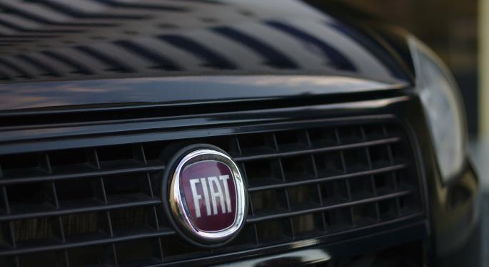 Fiat Chrysler Shares Trade Lower Despite 3% August Sales Increase