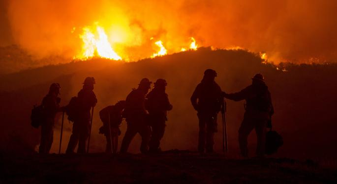 Amid Raging Wildfires, Is California's Market Up In Smoke?