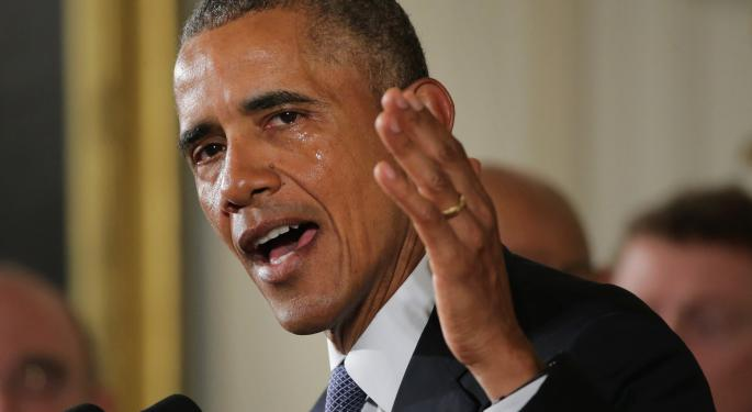 Gun Stocks Continue To Rise Following President Obama's Teary-Eyed Speech