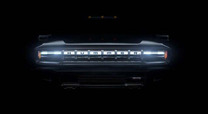 General Motors Teases GMC Hummer EV In Foray Into Electric Truck Race