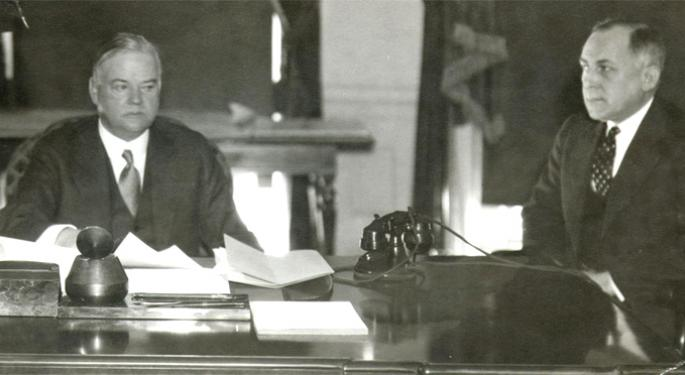 This Day In Market History: Herbert Hoover Creates The Reconstruction Finance Corp