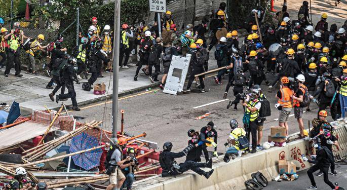 Hundreds Arrested On New Year's Day In Hong Kong
