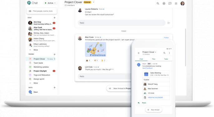 Google To Make Its Slack, Teams Rival Service Chat Available For Free Next Year