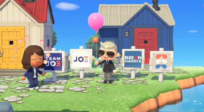Biden Campaign Markets To Gamers With 'Animal Crossing' Signs