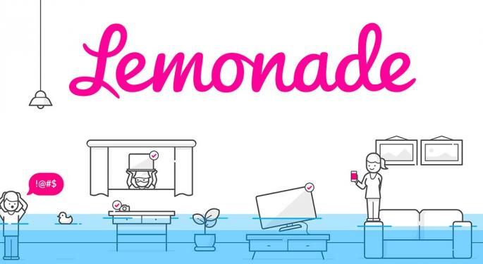 Online Insurer Lemonade's Shares Add 187% In The First Two Days Of Trading After IPO