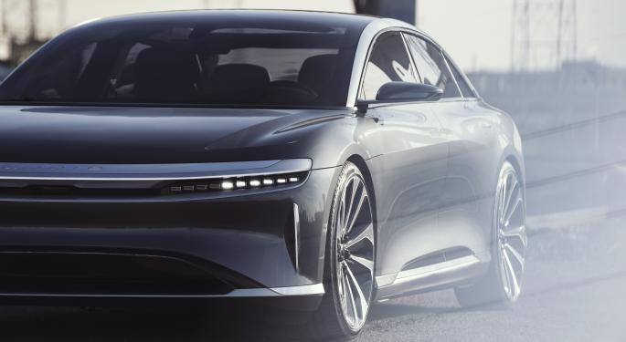 Lucid Motors Announces Sub-10 Second Quarter-Mile, Besting Tesla Model S
