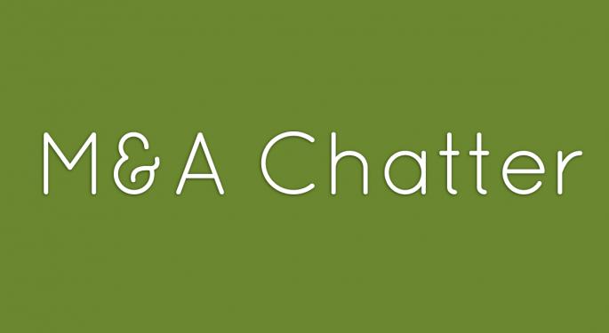 Benzinga's M&A Chatter for Thursday October 10, 2013