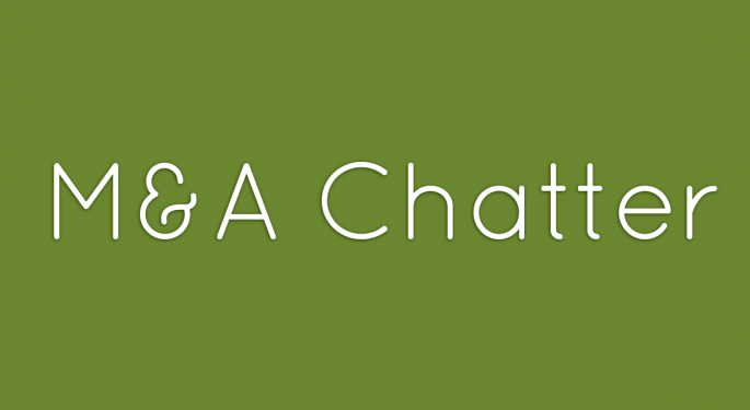 Benzinga's M&A Chatter for Wednesday October 16, 2013