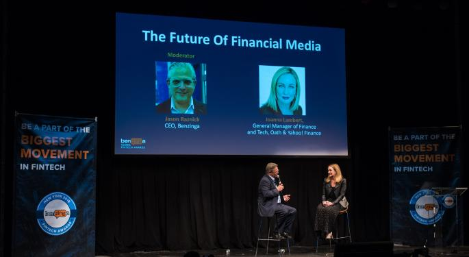 The Head Of Yahoo! Finance To Lead Personal Finance Fintech Panel At The 2018 Benzinga Fintech Summit