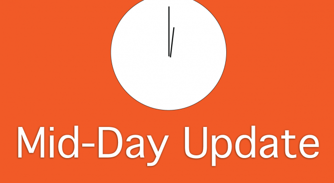Mid-Day Market Update: Google Shares Surge Ahead of Developer Conference, E-Commerce Sales Up