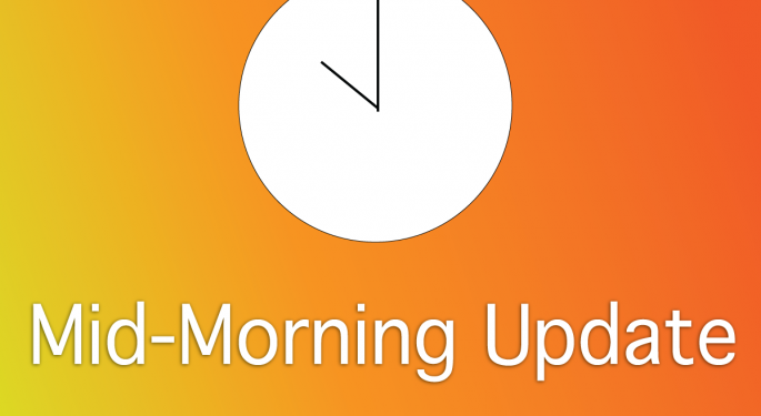 Mid-Morning Market Update: Markets Gain, Home Depot Profit Beats Street