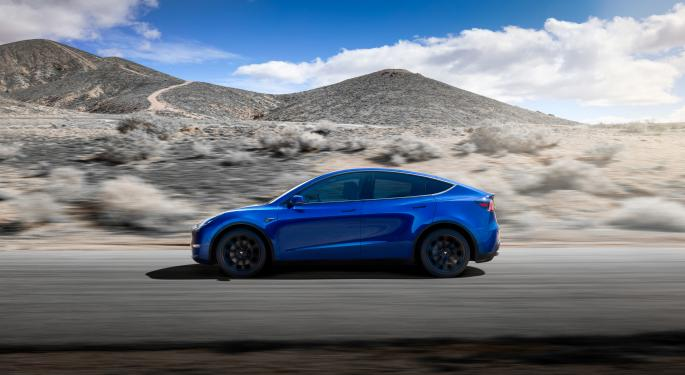 Possible Off-Road Prototype Tesla Model Y Spotted Near Fremont Factory