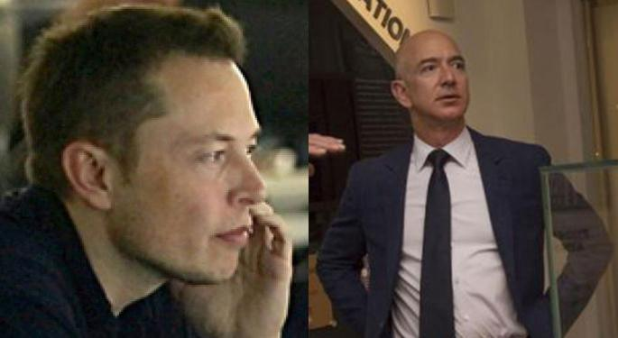 Elon Musk, Jeff Bezos Battling It Out For The Prize Of World's Richest Person