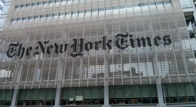 New York Times Jumps On Guidance Hike Days After Bullish 'Zingernation' Call