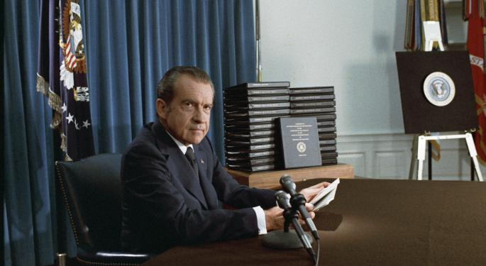 This Day In Market History: Nixon Implements US Price Freezes