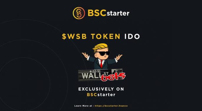WallStreetBets Lists $WSB Token On BSCstarter Fundraising Platform