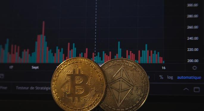 Aave sube mientras Bitcoin, Ethereum y Dogecoin bajan