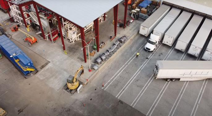 Drone Video Shows Tesla's New Casting Machine May Already Be Running