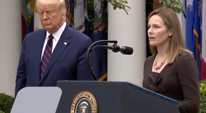 With Election Nearing, Trump Nominates Amy Coney Barrett To Fill Ginsburg's Supreme Court Seat