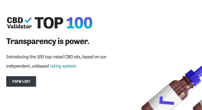 Digital Consumer Resource 'CBD Validator' Launches With Top 100 CBD Products List