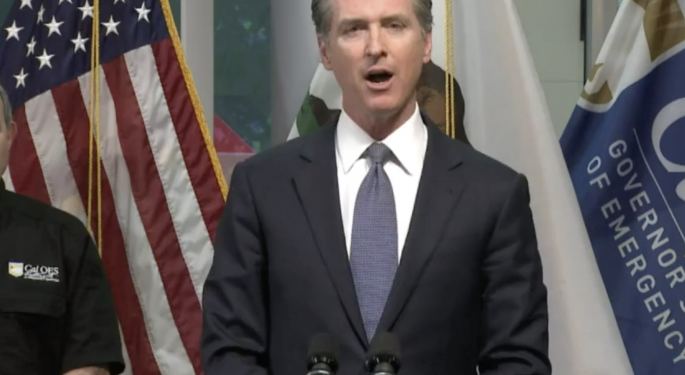 California Governor Issues Stay-At-Home Order For Entire State